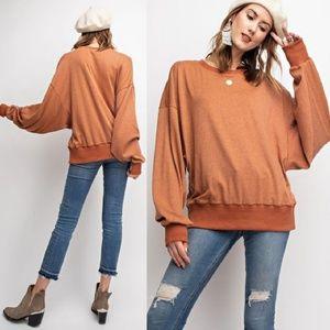 Rust Orange Hacci Longsleeve Sweater